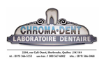 logo laboratoire dentaire chroma-dent